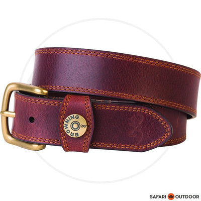 BROWNING BELT MEN LEATHER SLUG - BROWN