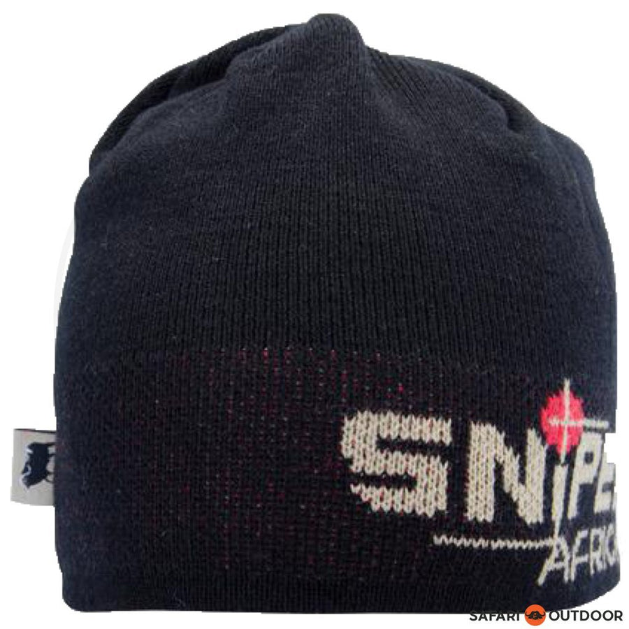SNIPER BEANIE KNITTED BLACK