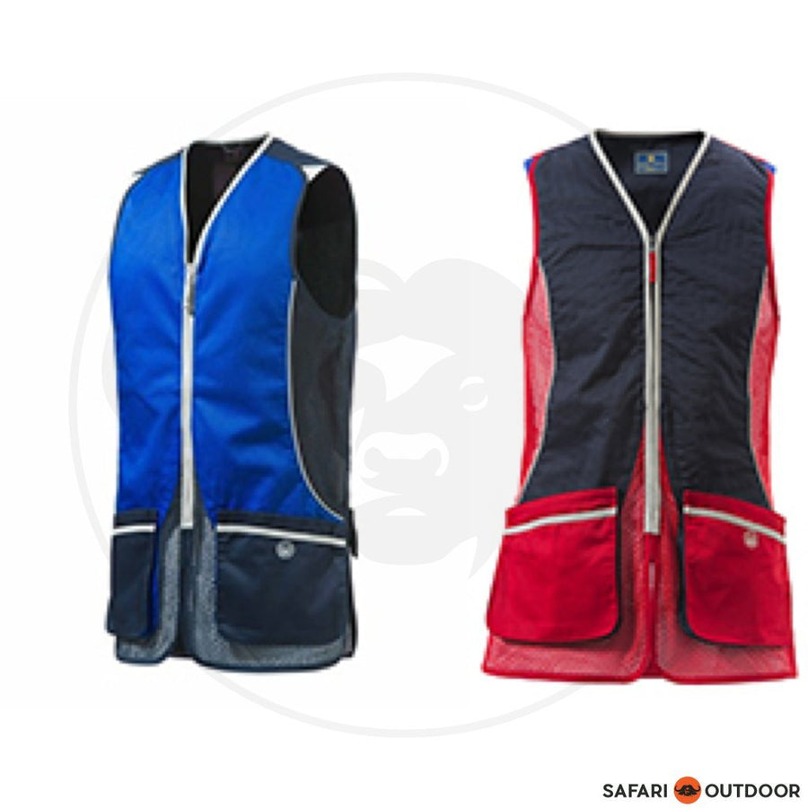 BERETTA MEN SILVER PIGEON VEST - RED/BLUE