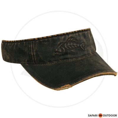 CAP OUTDOOR VISOR MEN WEATHERD FISHBONE -BROWN