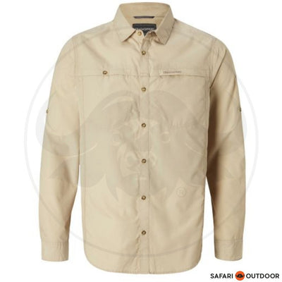CRAGHOPPERS LONG SLEEVE MEN KIWI TREK -OATMEAL