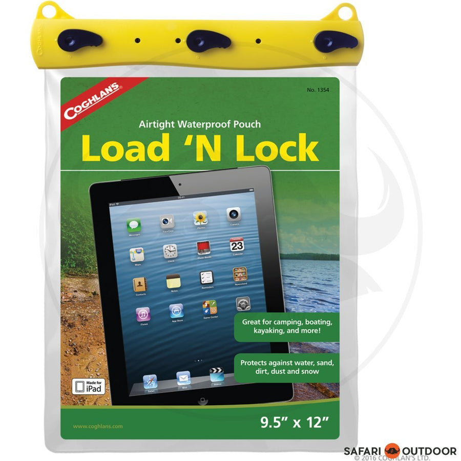 COGHLANS LOAD 'N LOCK 9.5'' X 12' WATERPROOF POUCH