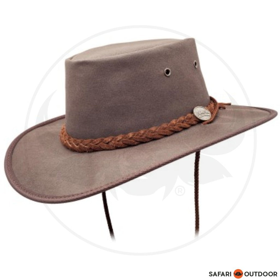 BARMAH HAT CANVAS DROVER OILED -BROWN