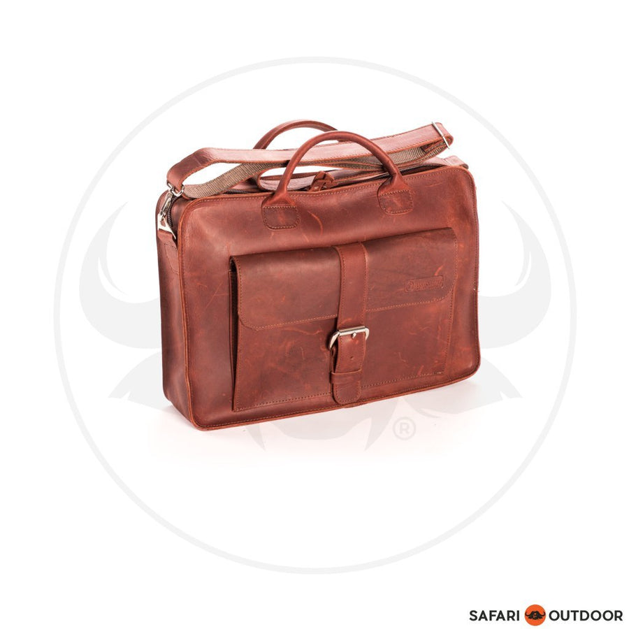 FILLY LAPTOP BAG 15INCH STEVE -RED BROWN