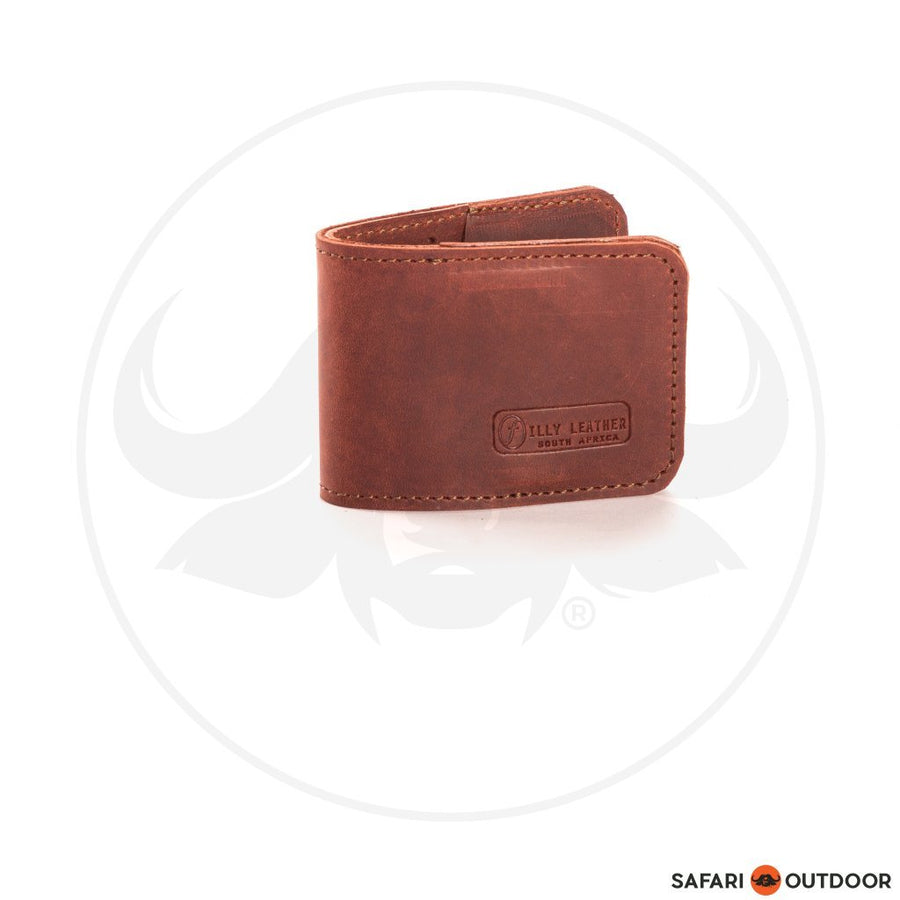 FILLY WALLET MENS CLIP RED BROWN