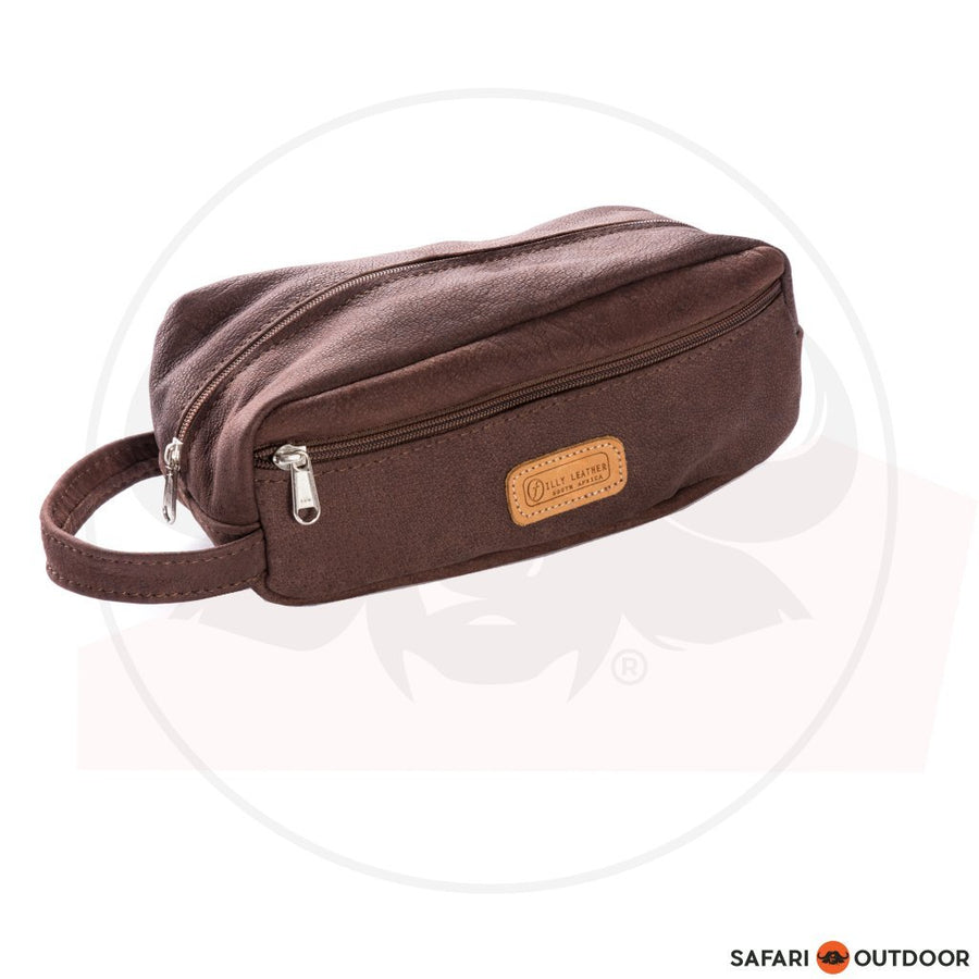 FILLY TOILETRY BAG -CHOCOLATE
