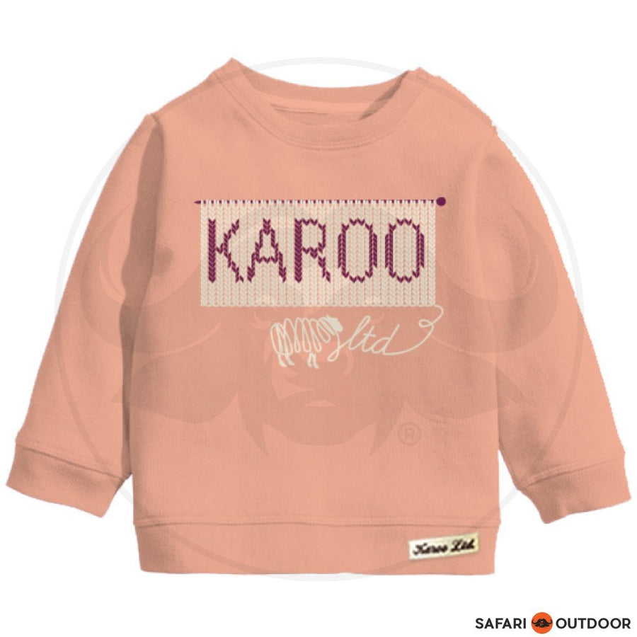 KAROO TOP W18R5 BABY GIRL LONG SLEEVE -PEACH