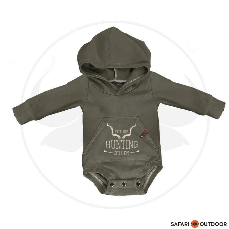 KAROO LTD LONG SLEEVE W18R5 BABY BOY HOODED VEST -KHAKI