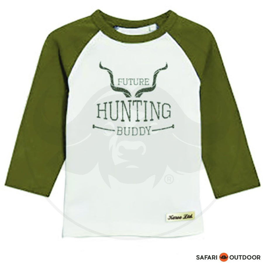 KAROO LTD LONG SLEEVE W18R5 BOY RAGLAN HUNT BUDDY -KHAKI