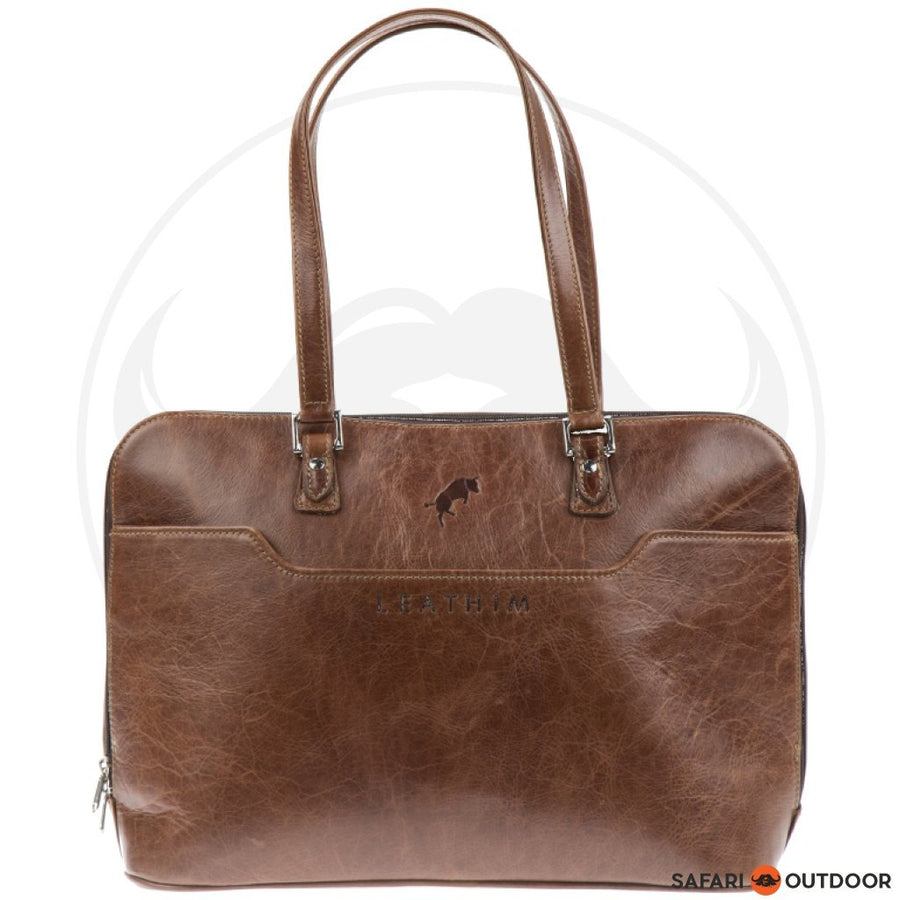 "LEATHIM BAG DESERTROSE UNISEX LAPTOP BAG 15"" -CHOCOLATE"