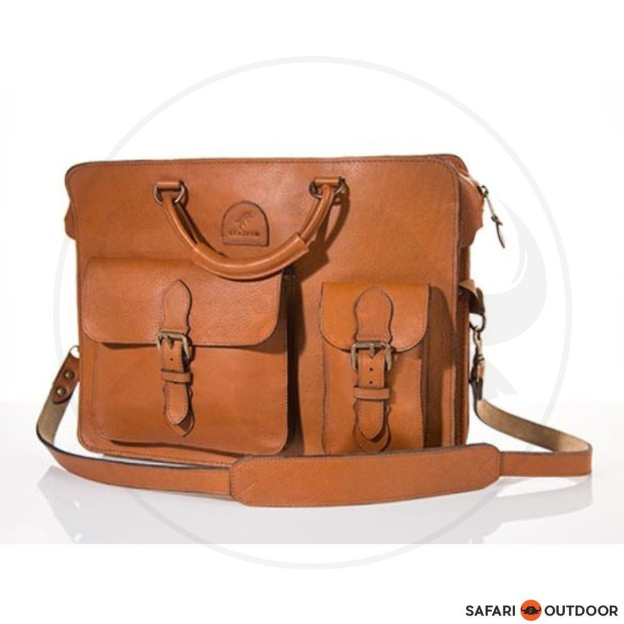 LEATHIM BAG OLDBOY UNISEX -TAN