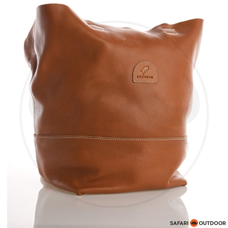 LEATHIM BAG CALLABASH UNISEX -TAN