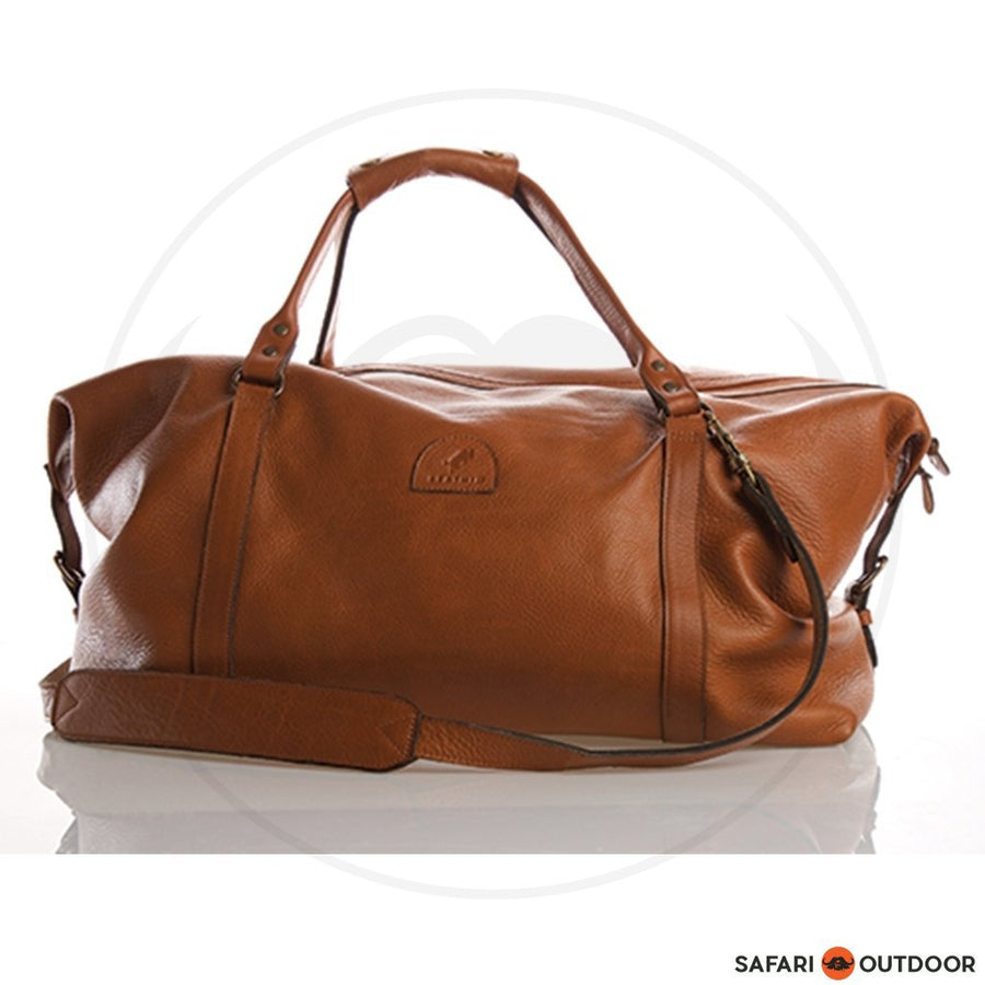 LEATHIM DUFFLE BULSAK UNISEX -BROWN