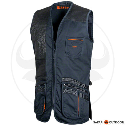 BLASER PARCOURS SHOOTING VEST NAVY RIGHT HANDED - NAVY