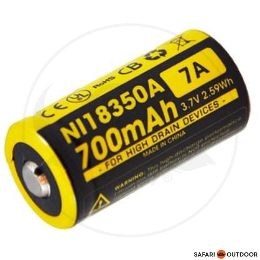 NITECORE 18350 RECHARGEABLE 3.7V  BATTERY