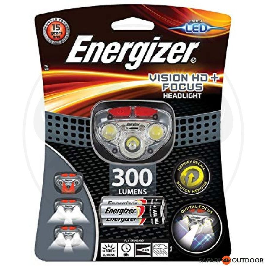 ENERGIZER VISION HD + FOCUS HEADLIGHT (315) INCLUDING 3AAA