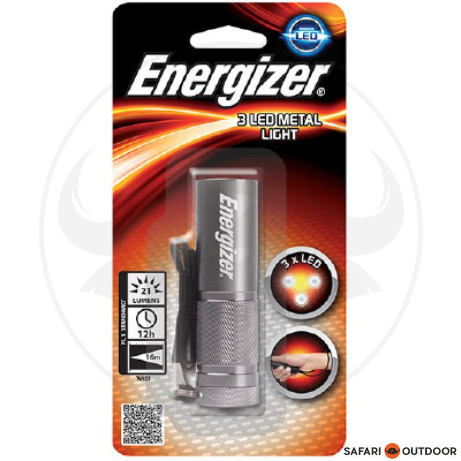 ENERGIZER NEW COMPACT METAL LIGHT INCLUDING 3 AA