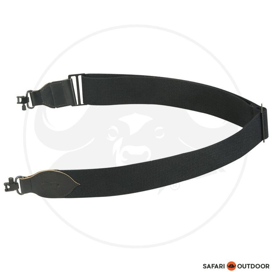 LEVY 2 COTTON SWIVEL BLACK RIFLE SLING
