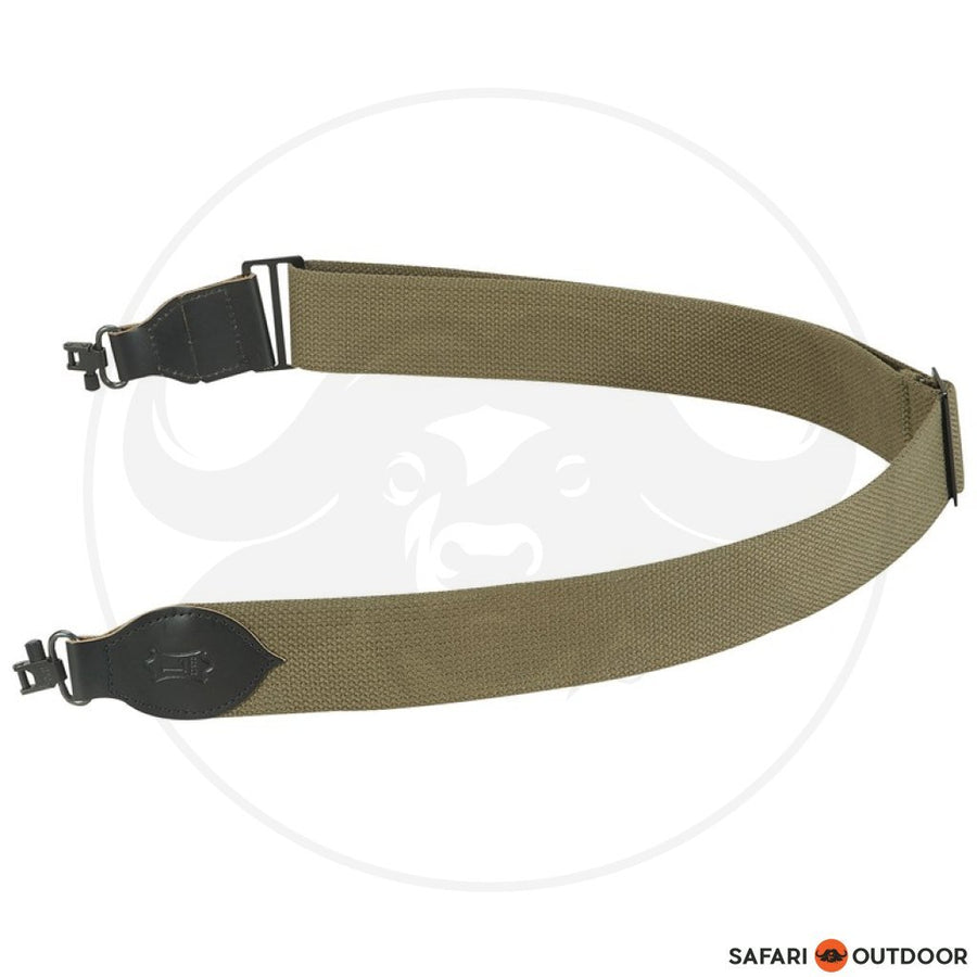 "LEVY 2"" COTTON W/SWIVEL GREEN RIFLE SLING"
