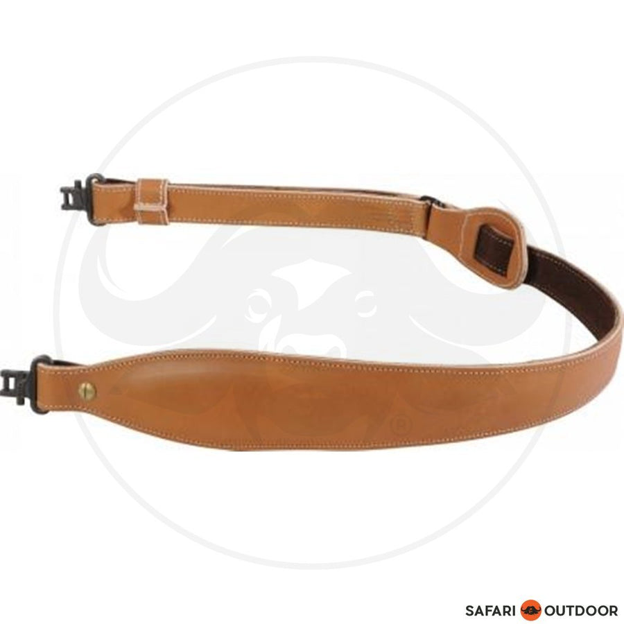 LEVY VEG TAN LEATHER COBRA WITH FOA RIFLE SLING