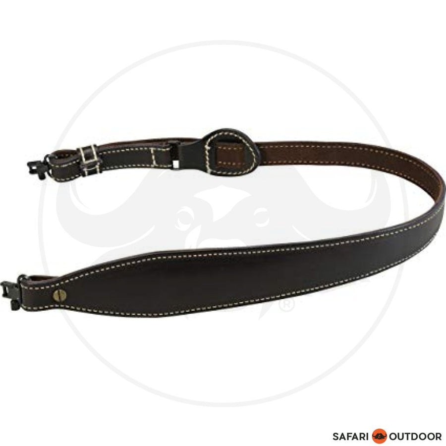 LEVY LEATHER DARK BROWN RIFLE SLING