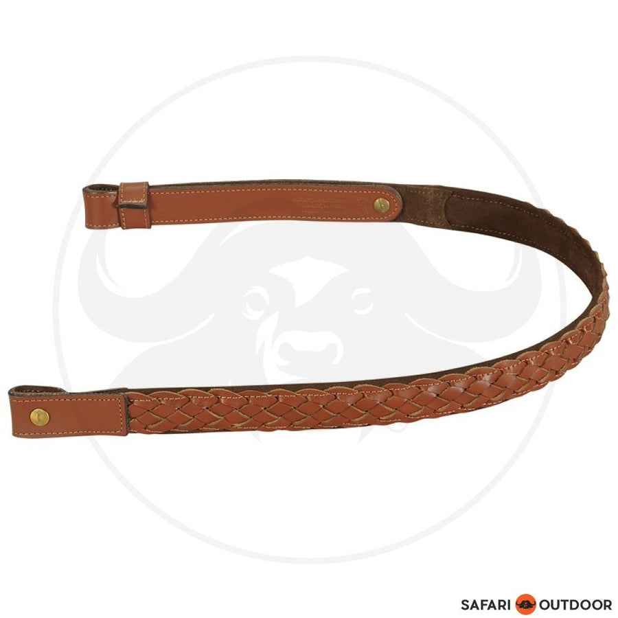 "LEVY 1"" BRAIDED CHROME-TAN LEATHER RIFLE SLING"