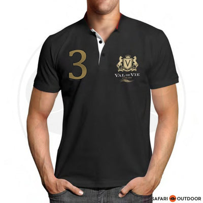 VAL DE VIE POLO SHIRT MEN NO 3 BLACK