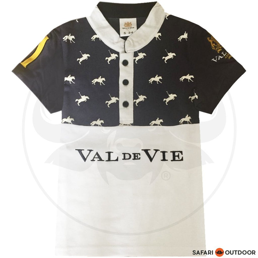 VAL DE VIE POLO SHIRT KIDS PONY NO 2 BLUE