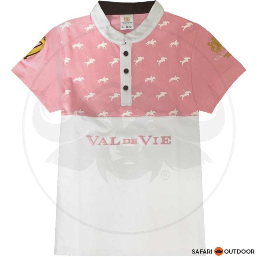 VAL DE VIE POLO SHIRT KIDS PONY NO 3 PINK