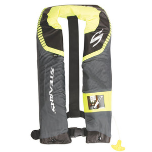 Stearns C-Tek 24G A-M Inflatable Life Vest - Gray-Yellow [3000004367]