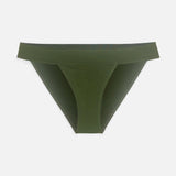 Product thumbnail Caress banded bikini Avocado - Monique Morin Lingerie