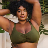 Product thumbnail Caress Sweetheart Bralette Avocado - Monique Morin Lingerie