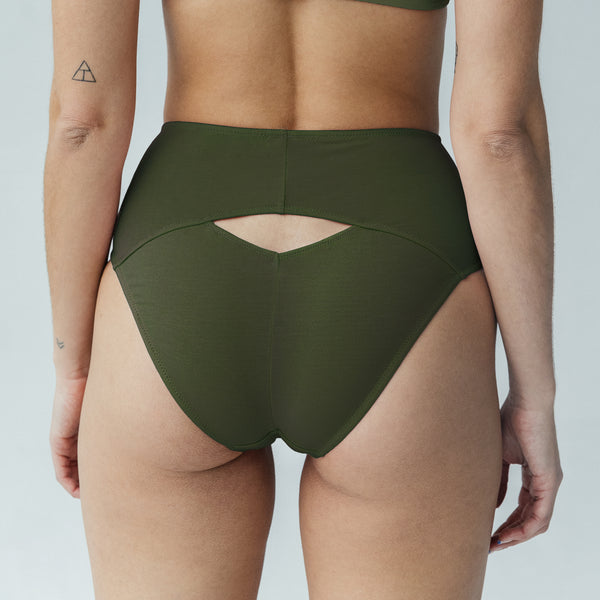 Caress Brief Avocado - Monique Morin Lingerie