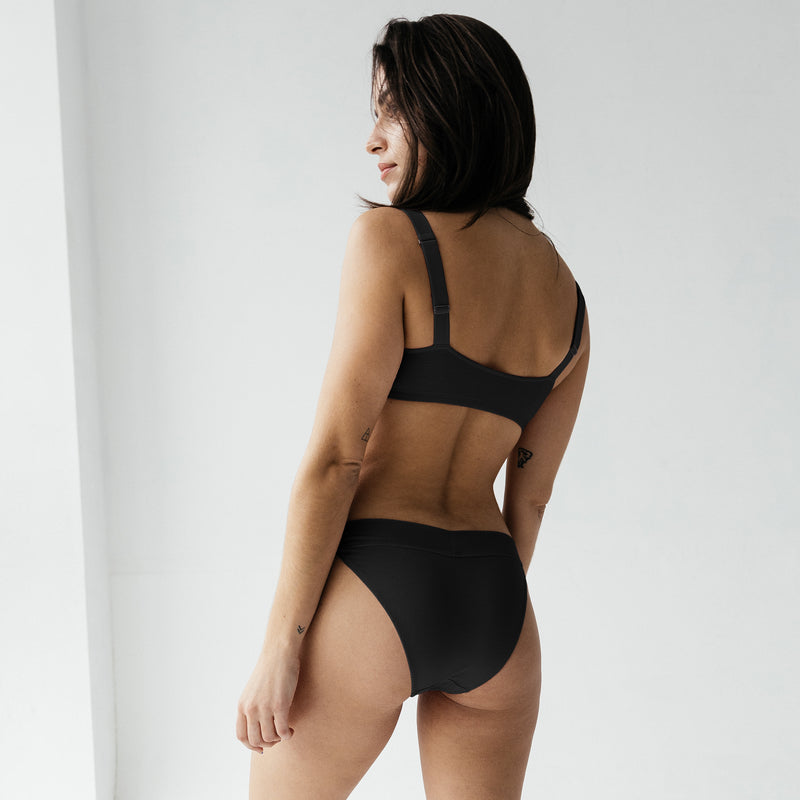 Caress banded bikini black - Monique Morin