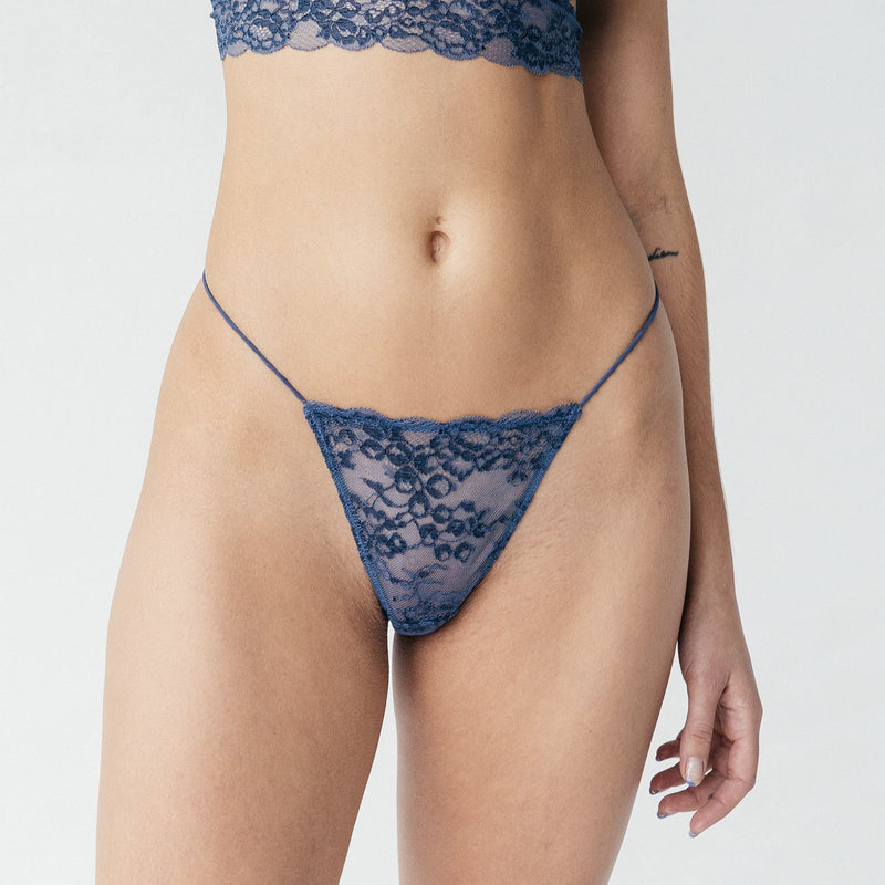 Wild Lace Micro-G Dark Denim Blue - Monique Morin