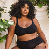 Product thumbnail Caress Sweetheart Bralette Black - Monique Morin Lingerie