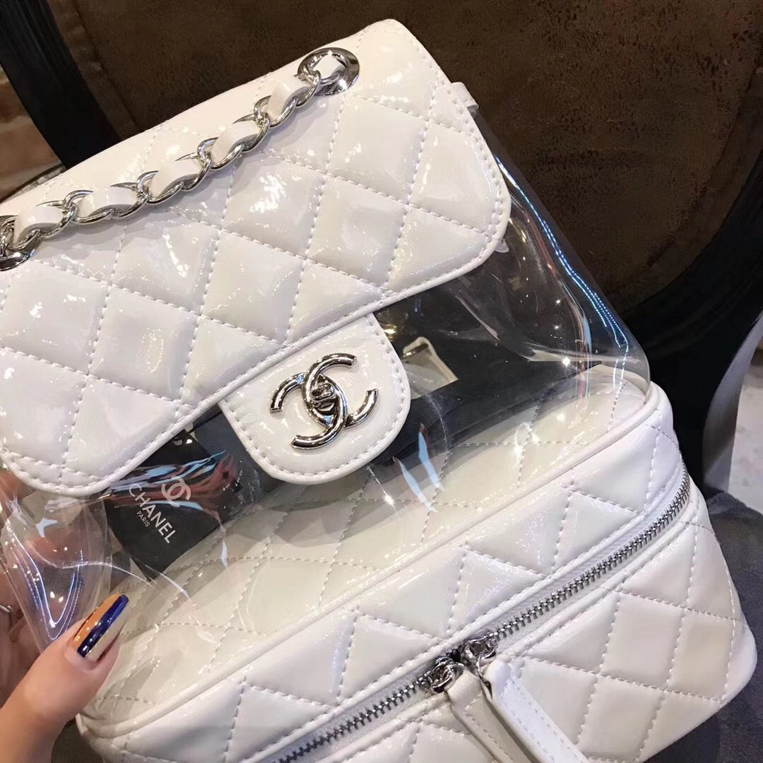 979fff043d6b76 Chanel transparent lambskin backpack – Colorfulmeteors