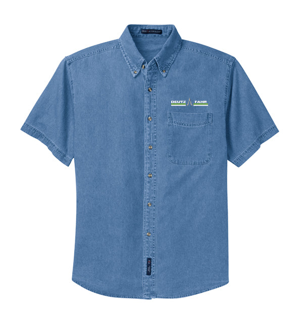 Men's Short Sleeve Denim Shirt