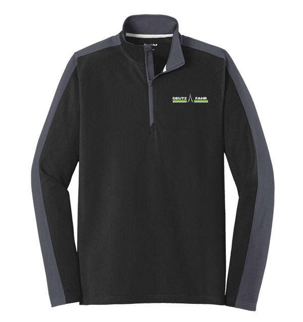 NEW Sport-Tek® Sport-Wick® Textured Colorblock 1/4-Zip Pullover