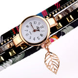 Vintage Gold Leaf Bracelet Watch