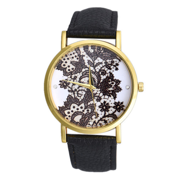 Elegant Lace Flower Watch