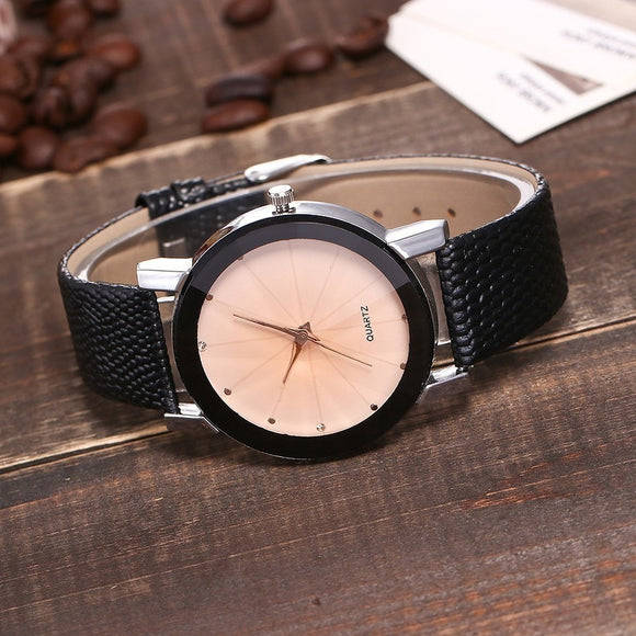 Elegant and Bold Quartz Face Watch