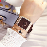 Luxury Square Rose Gold Dress Watch