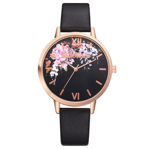 New Black and Flowered Watch