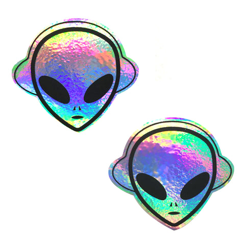 Kanye The Alien Super Holographic Nipztix Pasties