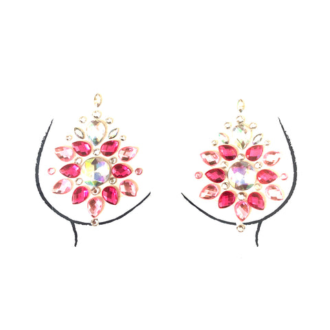 Ruby Rose Pink Crystal Jewel Nipztix Pasties