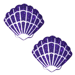 Purple Rain Glitter Mermaid Shell Pasties