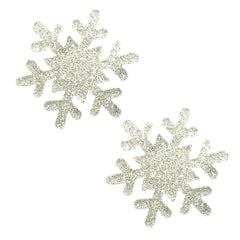 Silver Pixie Dust Glitter Snowflake Pasties