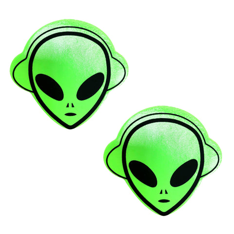 Neon Green UV Wet Vinyl Space Alien Nipztix Pasties
