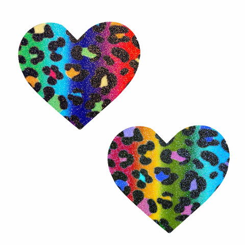Animal Madness Multicolor Glitter I Heart U Nipztix